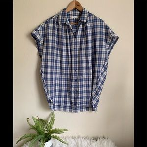 Madewell Button Up oversized Blouse size Small